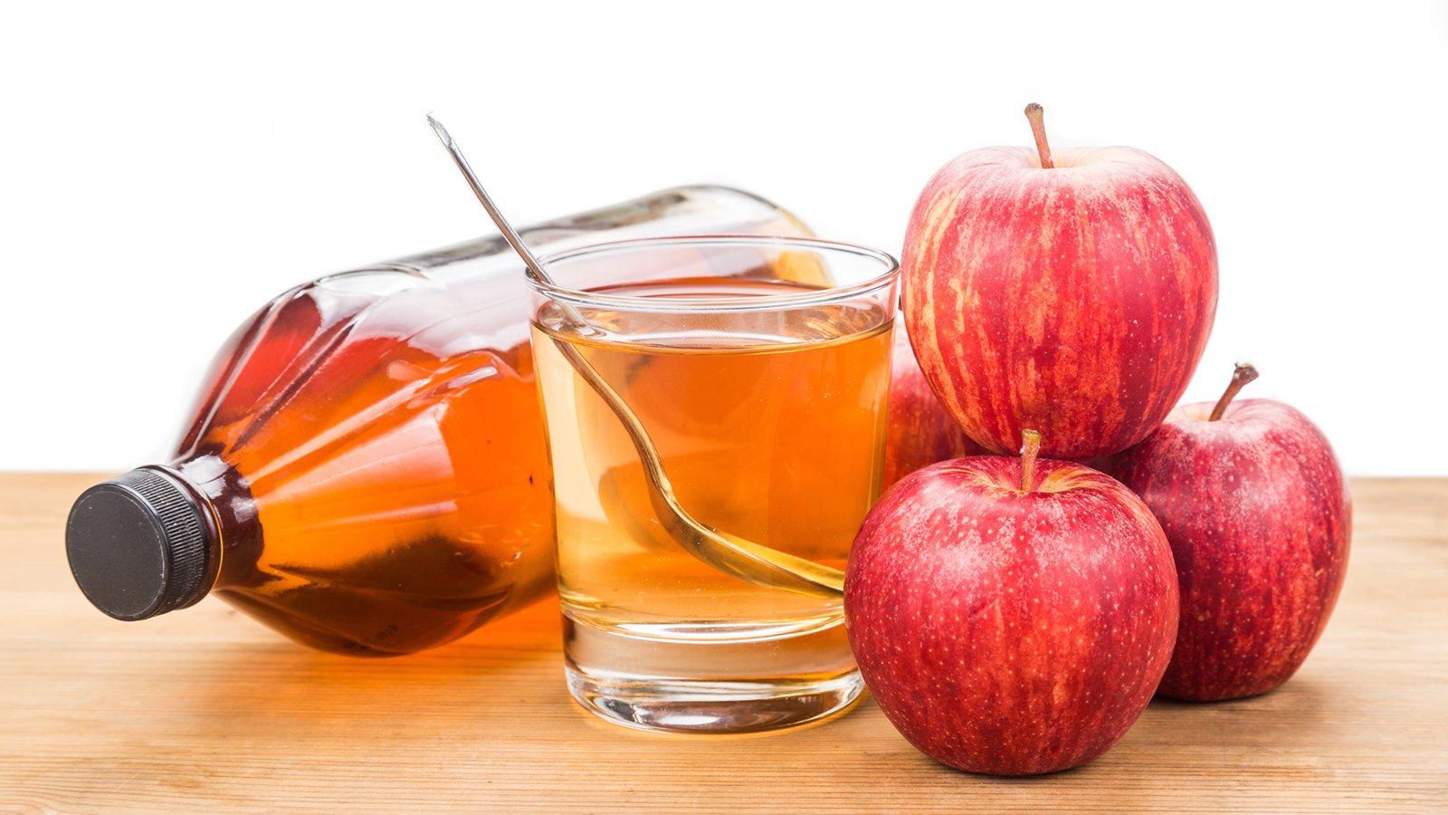Apfelwein wird verwendet, um Gewicht zu verlieren