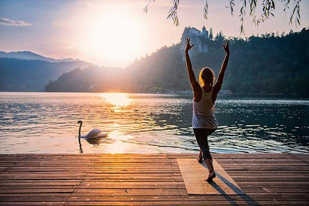Heilfasten bedeutet auch Zeit für sich nehmen, Ruhe finden und sanfte Bewegung wie Yoga