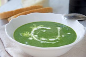 Kartoffel-Spinat-Suppe