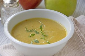 Linsen-Apfel-Suppe
