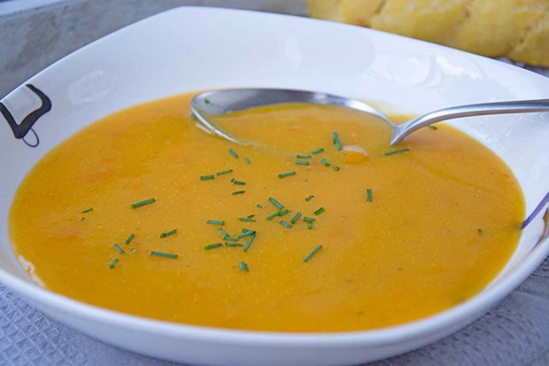 Mango-Kürbis-Suppe