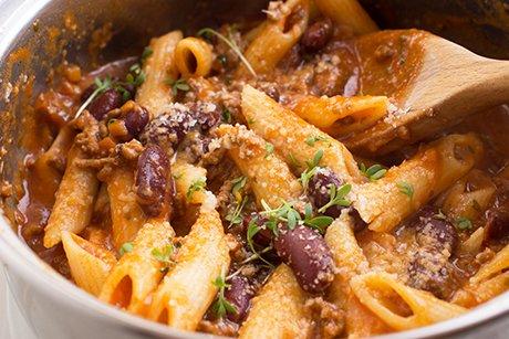 One Pot - Chili-Cheese-Pasta - Rezept