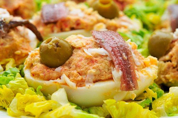 gefüllte eier mit mayonnaise