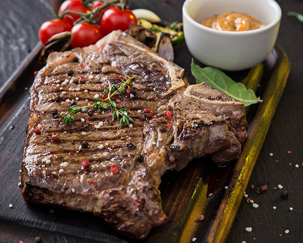T-Bone-Steak gebeizt