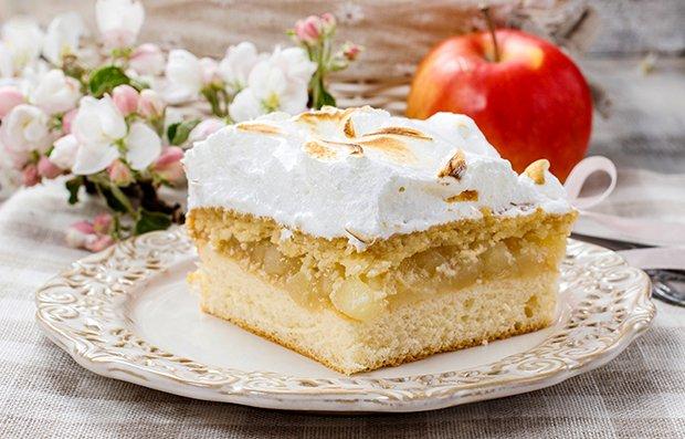 Grossmutters Apfelkuchen Mit Baiserhaube Rezept Gutekueche Ch