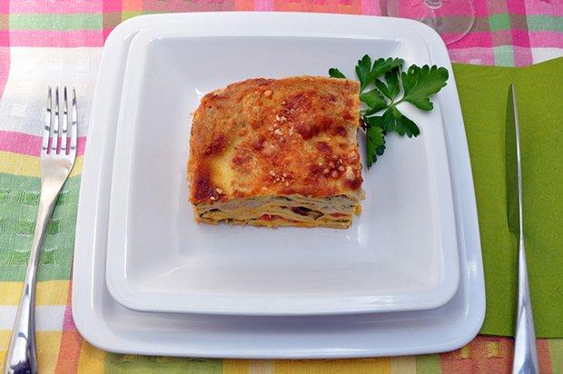 zucchetti auberginen lasagne mit schafsk se rezept. Black Bedroom Furniture Sets. Home Design Ideas