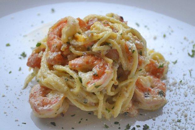 spaghetti knoblauch salat