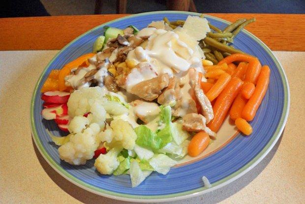 Gemischter Salat Mit Putenstreifen Rezept Gutekuechech