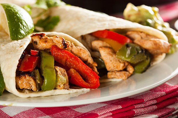 fajitas mit poulet rezept. Black Bedroom Furniture Sets. Home Design Ideas