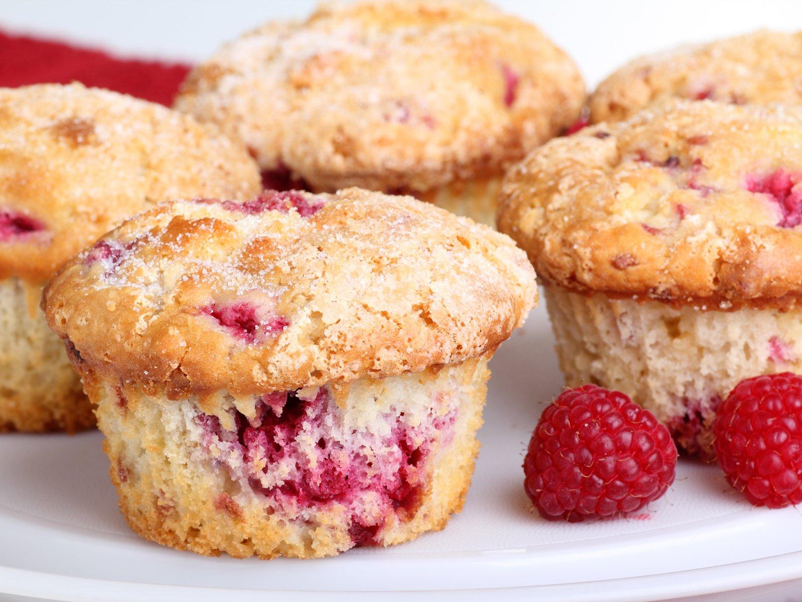 Muffins himbeer schoko