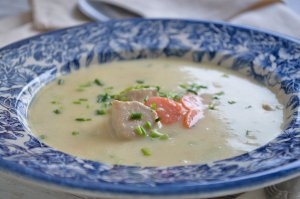 Kartoffel-Poulet Suppe