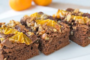 Winter Brownies mit Mandarinen