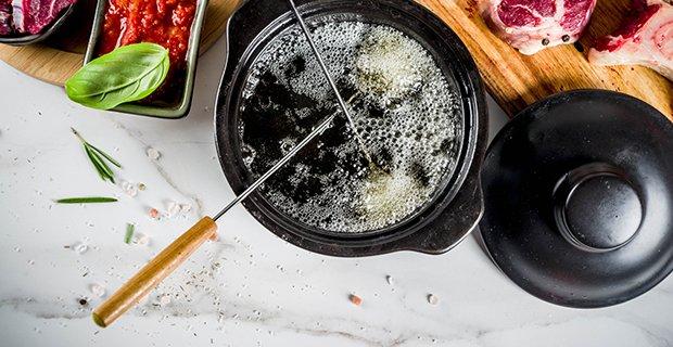 öl für fondue